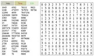 Printable Number Word Search Puzzles