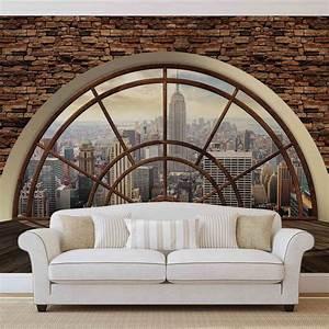 Wall Art Tapeten : details zu new york city skyline fenster vlies fototapete tapete mural 2397dk vlies ~ Markanthonyermac.com Haus und Dekorationen