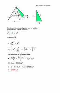 Quadratische Pyramide A Berechnen : zahlreich mathematik hausaufgabenhilfe algemeine fomeln ~ Themetempest.com Abrechnung