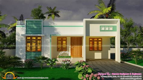 3 bedroom small budget house plan - Kerala home design and