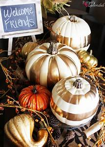 Diy, Gilded, Pumpkins