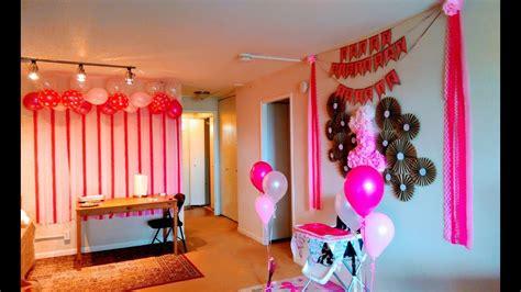 diy  birthday decoration ideas  home youtube