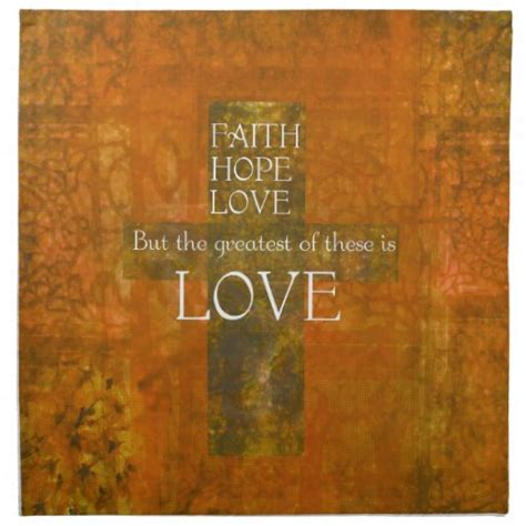 The case for hope from. Faith Hope Love Bible Verse Cloth Napkin   Zazzle