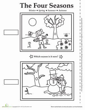 four seasons activity placemat worksheet education 679 | seasons activity placemat weather seasons