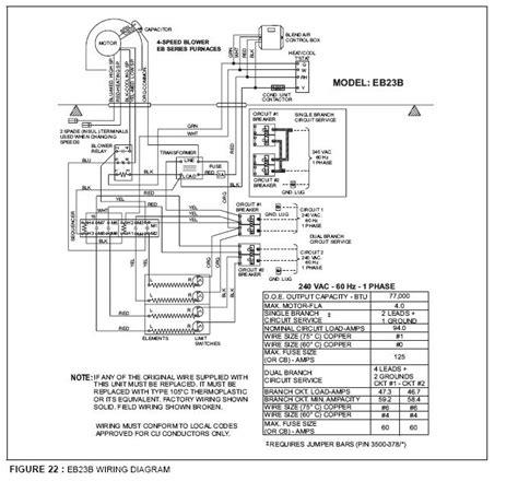 wiring diagram   evcon furnace model ebb
