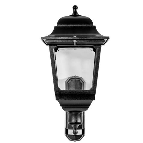 asd 4 sided coach lantern 100w 100w bc black pir