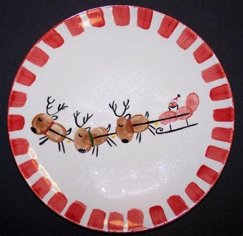 ideas for christmas plate designs handprint on plates gift giving print pottery handprint pottery gifts