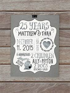 25 year anniversary gift silver wedding anniversary With 25th wedding anniversary gift ideas for husband