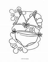 Bikini Coloring Things Pages Printable Favorite Template sketch template