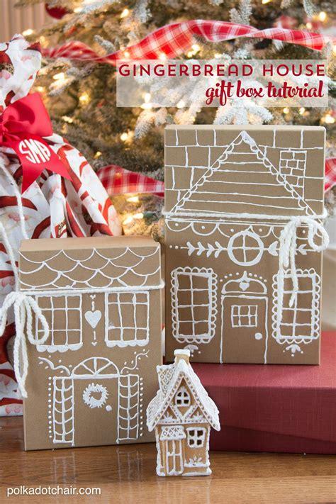 simple  creative gift wrap ideas  polka dot chair