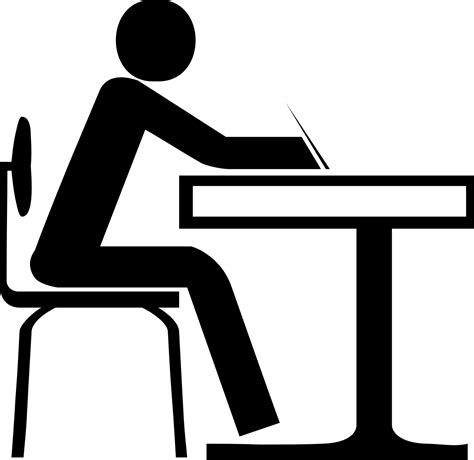 student desk clipart black and white best student working clipart 14369 clipartion
