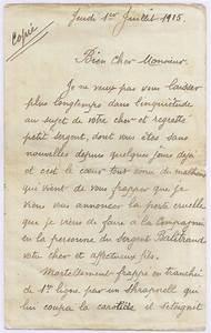 Lettre Deces : annonce du dcs d 39 un fils envoy au pre expositions virtuelles historiques des archives de la ~ Gottalentnigeria.com Avis de Voitures