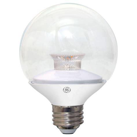 ge  equivalent soft white  globe dimmable led light bulb  pack leddg ctpp