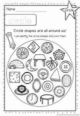 Worksheets Objects Shapes Everyday Coloring Shape 2d sketch template