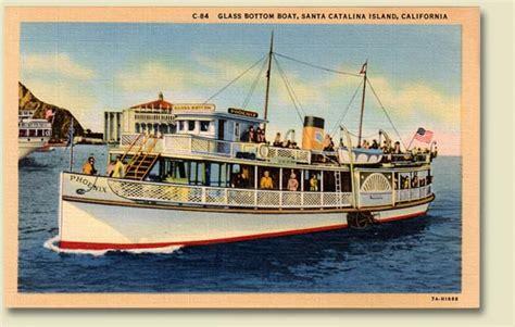 Catalina Island Glass Bottom Boat by Papersponge Vintage Ephemera Postcard Paper Book