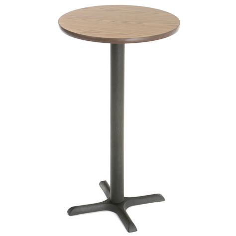 small bar height table obsidian 24 quot round pub table black walmart com