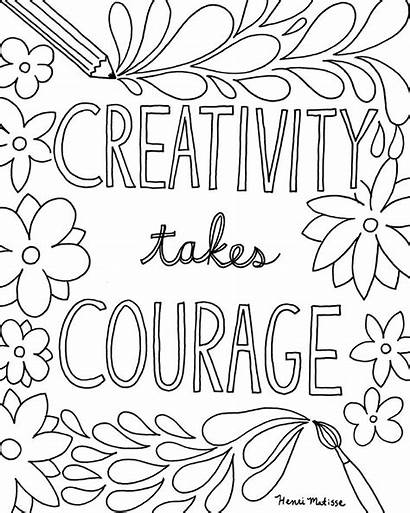 Coloring Pages Quote Quotes Printable Inspirational Creativity
