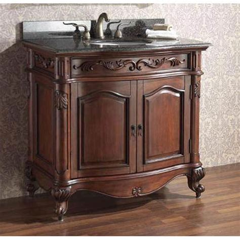 provence 36 inch antique cherry vanity with imperial brown