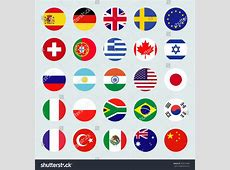 Circle Flags Vector World Flags Icons Stock Vector