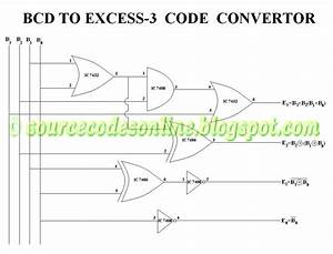 Bcd To Excess 3 Code Convertor In Cs1206 Digital Lab