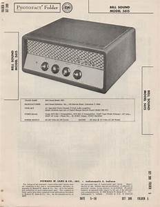 1958 Bell Sound 5615 Tube Amplifier Service Manual