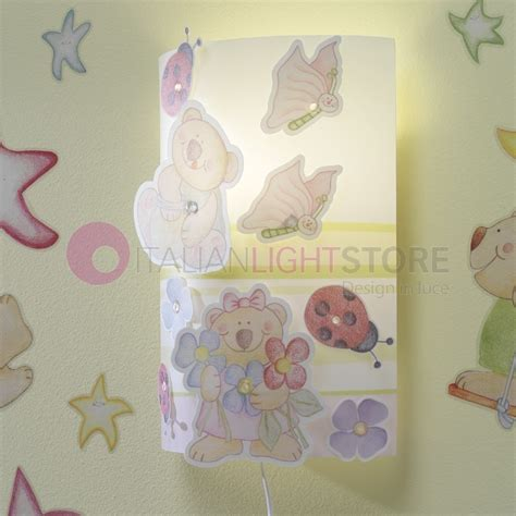 applique bambini applique lada parete cameretta bambino con filo