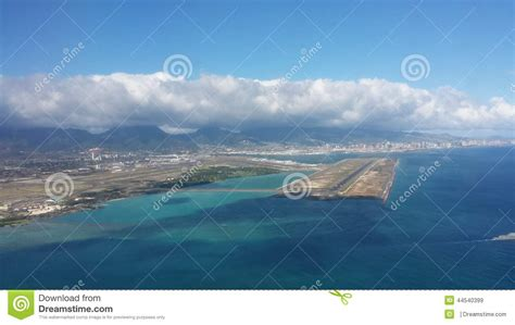 Landing View At Honolulu Airport Stock Image Image Of