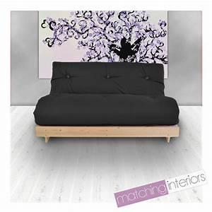 2 Sitziges Sofa : schwarz budget triple futon baumwolle matratzen 3 sitzer sofabett sofa gast tag ebay ~ Indierocktalk.com Haus und Dekorationen