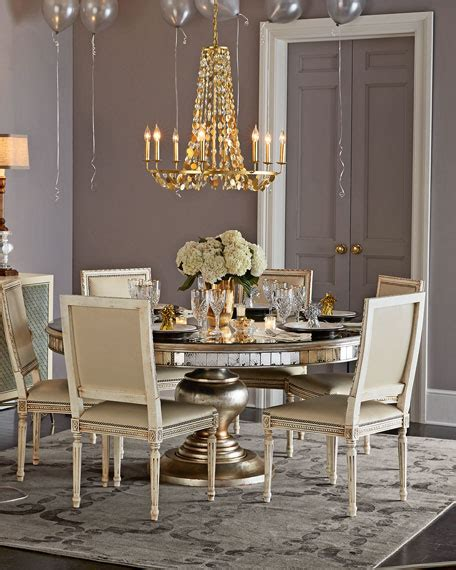 round mirrored dining room table john richard collection melissa dining chair lisandra