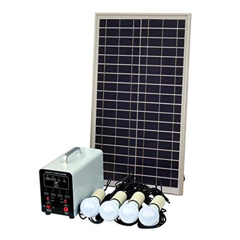 25w grid solar lighting system with 4 x 5w led lights