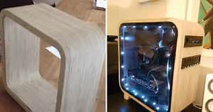 This Student Made An Epic Wooden Computer Case For School
