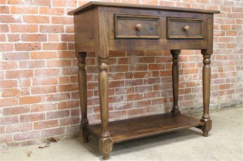 antique oak console table antique oak console table lake and mountain home 4116