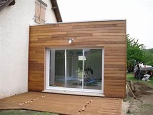 extension de maison construite en ossature bois a evreux With nice agrandir sa maison prix 5 plan et photo de maison avec etage ossature bois par