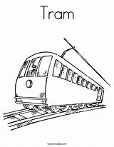 Coloring Tram Street Subway Pages Cable Washington Dc Train Trolley Printable Template Drawings Sketch Tramway Station Twistynoodle Designlooter Noodle Favorites sketch template