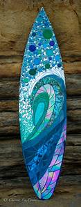 The Vertical Wave Glass Surfboard For My Client In Del Mar