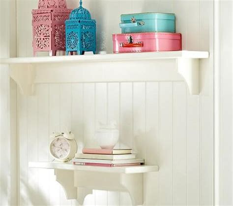pottery barn decorative wall shelves hayden simply white shelves pottery barn