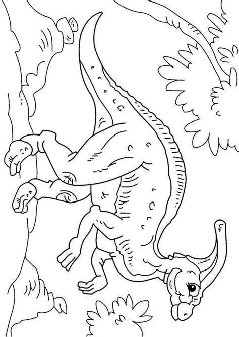 Kleurplaat Grote Dinosaurus by Kleurplaat Dinosaurus Parasaurolophus Afb 27629