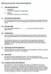 Kündigungsfrist Berechnen Wohnung : mietvertrag garage vorlage nach schweizer recht zum download ~ Themetempest.com Abrechnung