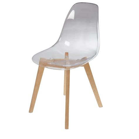 chaise scandinave transparente ice maisons du monde