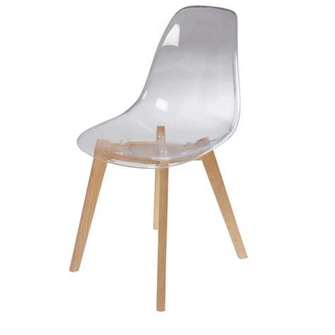 maisons du monde chaises chaise scandinave transparente maisons du monde