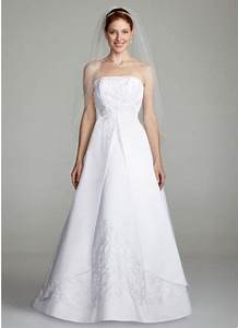 a line split front wedding dress with beading david39s bridal With wedding dress with split