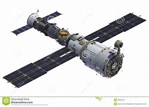 Space Station And Spacecraft Stock Illustration - Image ...