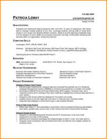 resume exle computer science student 7 computer literate cv exles cashier resumes