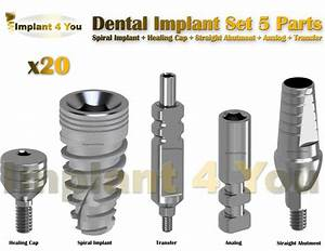 X20 Dental Implant Set 5 Parts All In One  Read Description