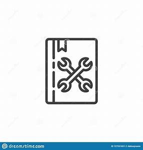 Manual Book Line Icon Stock Vector  Illustration Of Linear