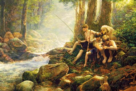 Hook Line And Summer Painting by Greg Olsen