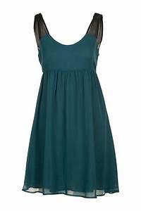 robe en soie bicolore noir bleu petrole naf naf mode With robe bleu pétrole
