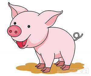 Pig Clipart Clipart- cute-smiling-pink-pig-clipart ...