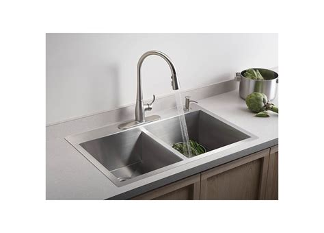 4 kitchen sink faucet faucet com k 3820 4 na in stainless by kohler
