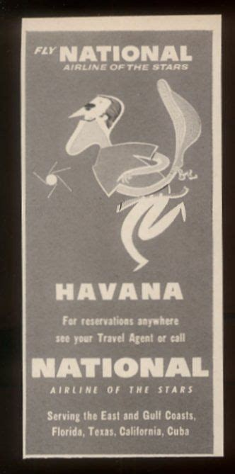 1957 Havana Cuba jai alai art National Airlines ad | NAL ...